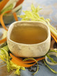 vegetable and green tea broth