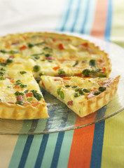 ham and pepper quiche