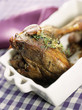 leg of lamb with garlic
