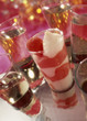 verrine of strawberry tagada sweets and cream