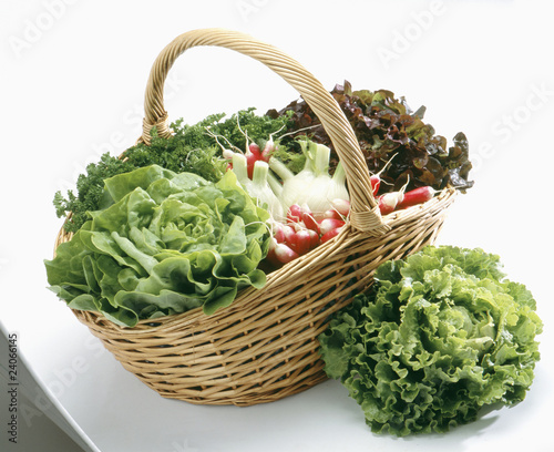 basket of market vegetables