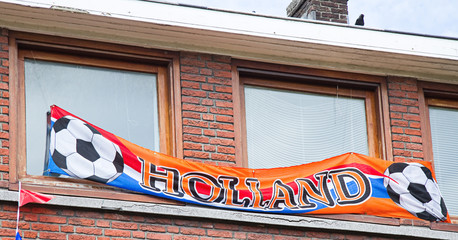 Support of Dutch soccerteam in the Netherlands