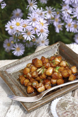 caramelized petoncle scallops