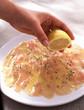 chicken carpaccio with lemon