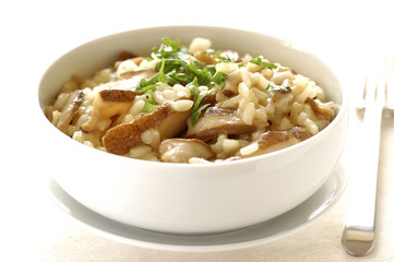 cep mushroom risotto