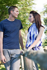 Young Couple Talking