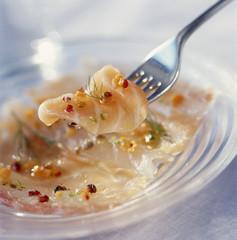 marinated salmon carpaccio