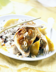 guinea fowl with citronella