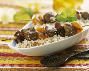 spicy lamb brochettes