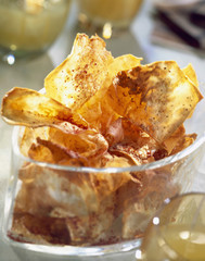 spicy celery chips