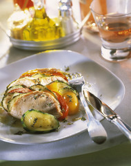 fresh tuna ,courgette and tomato tian