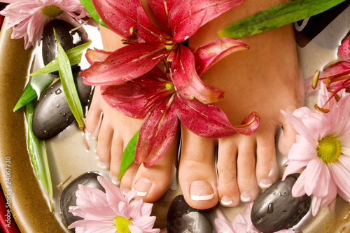 canvas print picture Footcare and pampering