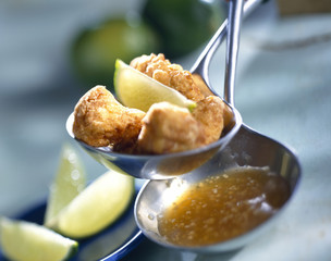 chicken nuggets with lime