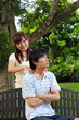 Young Asian Couple in Love having a tiff
