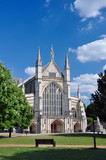 Winchester cathedral front facade and entrance - Fine Art prints