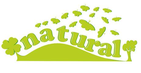 natural texte en bannière ou fond