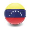 Esfera brillante con bandera Venezuela