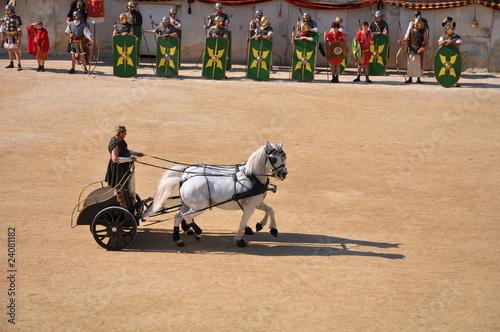 char romain et soldats