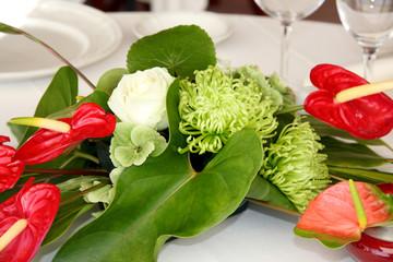 bouquet centre de table réception