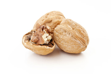 tre noci - walnuts isolated