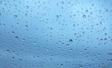 Water drops on glass window. XXL