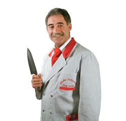 Metzgermeister mit Messer