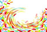 colorful & white background