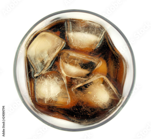 Cola drink,top view