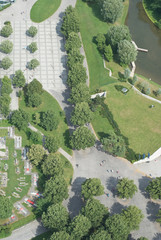 Aerial View with Pedestrian Walkway