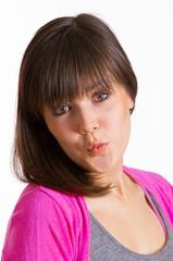 küssende junge Frau
