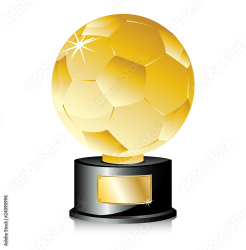 Golden Ball Soccer Trophy Champion.