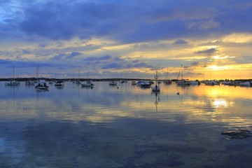 Estany des peix sunset lake Formentera