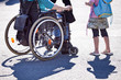 wheelchair user meets girl