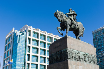 Statue of General Artigas in Plaza Independencia, Montevideo