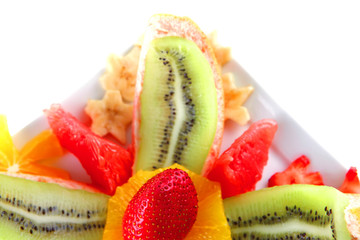 served tropical fruits
