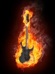 Electric Guitar in Fire