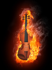 Violin in Fire