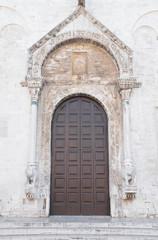 Wooden Portal of Basilica St. Nicholas. Bari. Apulia.