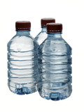 Purified spring water in the bottles poster