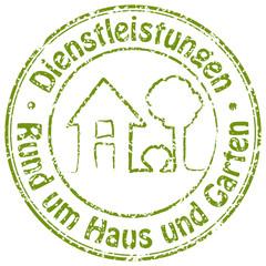 Dienstleistungen - Rund um Haus und Garten - Stempel