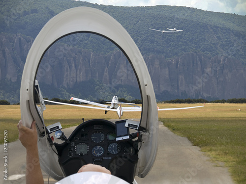 Papiers peints Aerien Glider Saint Auban