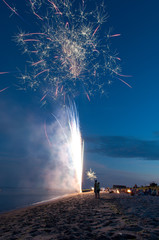 Fireworks Display on the Beach