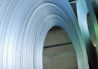 rolls of steel sheet.