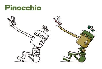 ピノキオの鼻とトンボ
