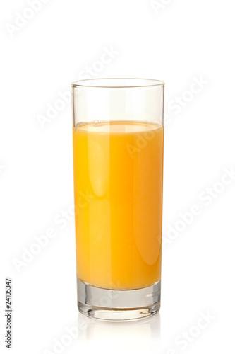 Orange juice in highball glass