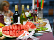 fresh and tasty food on table