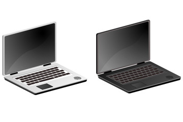 Ordinateur portable / laptop gris - blanc ou noir
