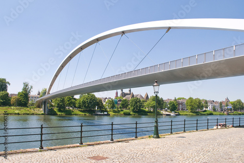 Modern High bridge over the river Meuse in Maastricht