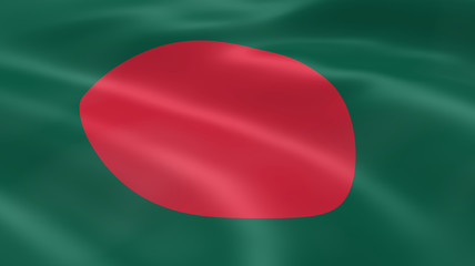 Bangladeshi flag in the wind