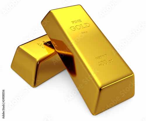 Two 400 oz Gold Bars
